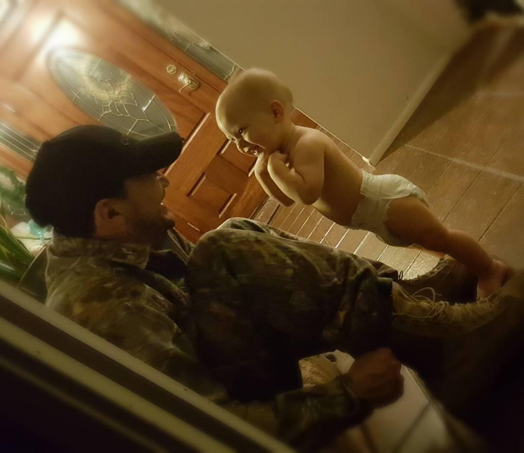 AJ watching Daddy